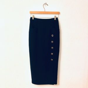 Ted Baker London Midi Button Front Pencil Skirt
